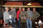 Laget fra Dalslands Dreverklubb vant klubbkampen. (Til v. Torleif Eng og Ole Jørgen Henriksen, til h. prøveleder Steinar Nordgjerde)